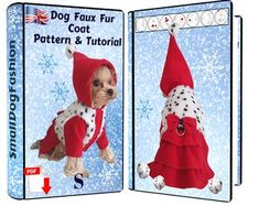 Sewing patterns and tutorials for small dogs by SmallDogFashion Dog Clothes Patterns, Coat Patterns, Sewing Patterns, Cute Dog Clothes, Small Dog Clothes, Small Dog Coats, Small Dogs, Dog Coat Pattern, Pekinese