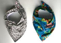 Make your own bandana bibs, sewing pattern