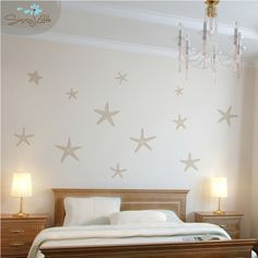 Stunning Starfish Set of 12 Vinyl Wall Decal by Sissy little. Baby room ideas