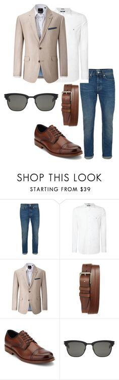 """""""basico"""" by andy-alvarez-i on Polyvore featuring Topman, Replay, Skopes, 1901, Dockers, Yves Saint Laurent, men's fashion y menswear"""