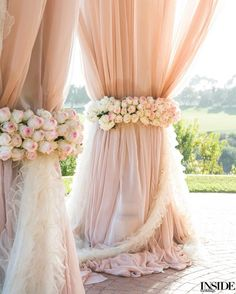 Romantic blush-toned fabric for a stunning oceanside ceremony photographed by @SamuelLippkeStudios. #InsideWeddings #WeddingCeremony #CeremonyDecor #WeddingCeremonyDecor #Wedding #Weddings #WeddingDay #WeddingInspo #WeddingInspiration #WeddingIdeas #WeddingDetails #PinkWedding #MarriageCeremony #BeachsideCeremony #OceansideCeremony #EditorsCircle (Floral design: @WhiteLilacInc Invitations: @LehrandBlack) by insideweddings