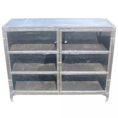 """48"""" Industrial Age Brushed Steel Sideboard Bookcase"""