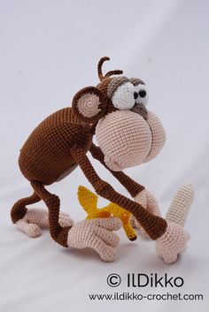 Excited to share the latest addition to my #etsy shop: Amigurumi Crochet Pattern - Charles the Chimp - English Version