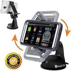 Car Windshield Phone Mount Dashboard Suction 360 Degree Rotation