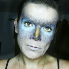 Owl Halloween makeup. Nature inspired.