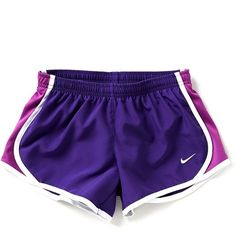 Nike 7-16 Tempo Running Shorts ($20) ❤ liked on Polyvore featuring activewear, activewear shorts, nike sportswear, nike activewear and nike