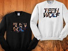 teen wolf sweatshirt black and white size S - 3XL on Wanelo