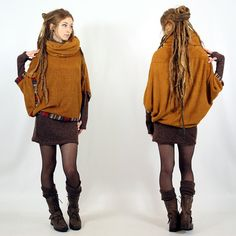 """Poncho Witch """"Natcha"""", Rouille"""