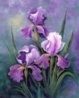 Flowers Art Painting Purple Iris New Ideas Watercolor Flowers, Watercolor Paintings, Paint Flowers, Art Floral, February Birth Flowers, Iris Drawing, Purple Iris Flowers, Iris Art, Iris Painting