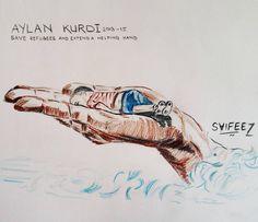 #artbyme #aylankurdi #drowning #syria #refugees #refugeeswelcome #help #helpsyria #gaza #palestine #saudiarabia #turkey #iraq #iran #brunei #egypt #pakistan #india #paris #sketches #sketchbook #artoftheday #illustration #muslim #ummah #islam #peace #mumbai #saifiez