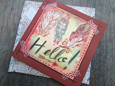 Bohemian Greeting Card, Blank Greeting Card, Hello Card, Boho Greeting Card, Feather Card, Beautiful Gift Card, Hand Drawn Greeting Card by EarthChildArt on Etsy https://www.etsy.com/uk/listing/449807020/bohemian-greeting-card-blank-greeting