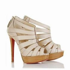 bba49cb21f5 Christian Louboutin Pique Cire 140 Sandals Booties Ivory  158.00  http   www.christianlouboutinsany