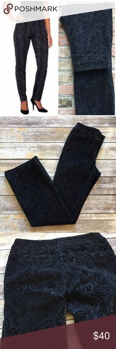 """Classiques Entier Baroque Velvet Pants Classiques Entier Baroque Velvet Pants. This brand is sold at Nordstrom. Beautiful design and color. Size 4. Made of cotton/ spandex blend (98/2). Waist laying flat 15""""/ inseam 33""""/ front rise 10""""/ back 12"""". Nordstrom Pants"""