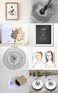 drawn to black and white by unatheballooner on @Etsy #treasury #etsyshop #blackandwhite #art #artisan