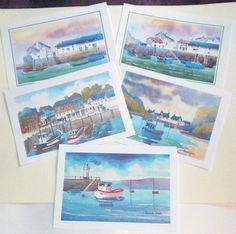 Hey, I found this really awesome Etsy listing at https://www.etsy.com/listing/199945435/art-cards-for-any-occasion-the-harbour