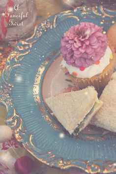 cucumber and watercress sandwiches at the Mad Tea Party...