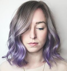 Ash+Brown+To+Lavender+Ombre+Bob Haar lila 50 Cool Ideas of Lavender Ombre Hair and Purple Ombre Purple Ombre Hair Short, Best Ombre Hair, Brown Ombre Hair, Ombre Hair Color, Blonde Ombre, Hair Color Balayage, Blue Hair, Purple Bob, Short Lavender Hair