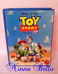 Caixa Livro em mdf média. Tema Toy Story