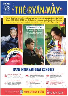 The Ryan International School believes in embracing change and leveraging technology to Make Education More Effective and Enjoyable. Practical Life, International School, Student Life, Primary School, Life Skills, Curriculum, Change, Technology, Education