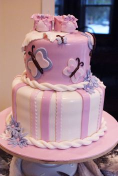 butterfly baby shower cakes   Sweet T Bakes...: Cake for Breakfast Anyone?