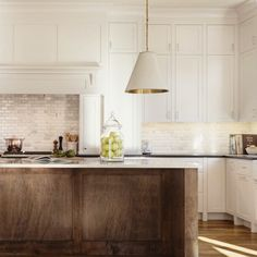 Drop dead gorgeous kitchen designed by Love the warmth the island brings to this space. Painting Kitchen Cabinets, Kitchen Flooring, Shaker Kitchen Cabinets, Kitchen Remodel, Kitchen Decor, Kitchen Cabnets, Kitchen, Wood Kitchen, Dark Wood Kitchen Cabinets