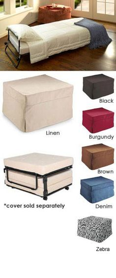 Fold-Out Ottoman Bed, Folding Bed Ottoman Sleeper  Solutions