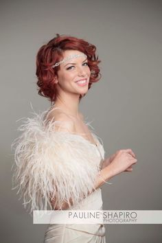 As Seen in The Knot Ostrich Feather Toss Mini by theweddingdresser, $249.00