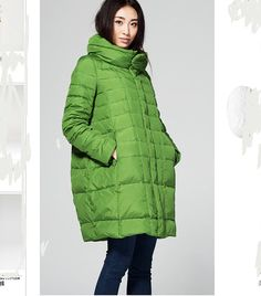 Thick  Down Coat Hooded Long Down Jacket by ttlovewomenclothing, $159.00