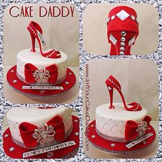High Heel Cakes, Shoe Cakes, Beautiful Desserts, Beautiful Cakes, Amazing Cakes, Fondant Shoe Tutorial, Cupcakes, Cupcake Cakes, Bag Cake