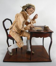 A Musical Automaton Figure of a Writer, French and Swiss, 3rd Quarter 19th C