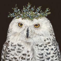 owl by artist Vicki Sawyer Art Visage, Owl Artwork, Bird Art, Cute Art, Illustrators, Folk Art, Illustration Art, Creatures, Poster