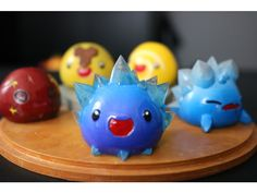 And other variations [Crystal, Boom, Rock and Honey] by ChaosCoreTech 3d Printer Price, 3d Printer For Sale, 10th Birthday, Birthday Cakes, Birthday Ideas, Pokemon, Cute Polymer Clay, Kawaii, Clay Projects