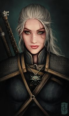 The Witcher Wild Hunt – Gameplay Story Fantasy Girl, Chica Fantasy, Fantasy Warrior, Fantasy Women, Fantasy Rpg, Woman Warrior, Elf Warrior, Witcher Art, The Witcher 3