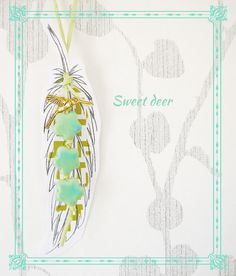 paper feathers Diecut
