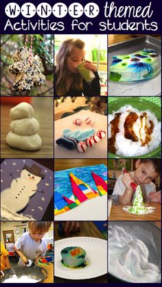 AMAZING Winter activities that students (or children) will love!!