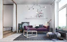 2 mẫu thiết kế nội thất chung cư 1 phòng ngủ đẹp khó cưỡng