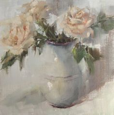 """A study in whites and grays.. oil painting by Alabama artist Gina Brown """"Risen"""""""