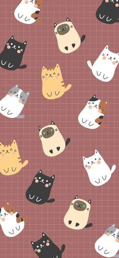 56 Ideas cats wallpaper iphone backgrounds phone wallpapers for 2019 Kitty Wallpaper, Cartoon Wallpaper, Kawaii Wallpaper, Trendy Wallpaper, Pattern Wallpaper Iphone, Wallpaper Iphone Cute, Pattern Lockscreen, Aztec Wallpaper, Pink Wallpaper