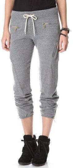 Monrow Zipper Sweatpants on shopstyle.com