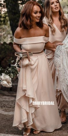 Cheap Mismatched Chiffon Bridesmaid Dress, Backless Floor-Length A-Lin – Dairy Bridal #bridesmaiddresses #bridesmaiddress #bridesmaids #dressesformaidofhonor #weddingparty #2021bridesmaiddresses #2021wedding Two Piece Bridesmaid Dresses, Prom Dresses, Bridesmaids, Beautiful Dress Designs, Beautiful Dresses, Awesome Dresses, Wedding Dress Trends, Wedding Dresses, Chiffon