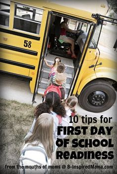How do you get your kids ready for the first day of school?  Here are 10 tips from moms like you at B-InspiredMama.com.