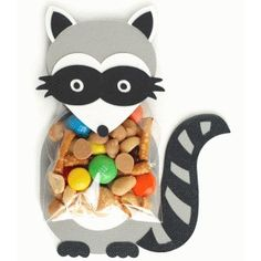 Silhouette Design Store - View Design #40513: raccoon treat holder