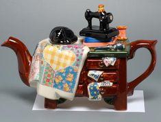 #HandiQuilter  quilt maker teapot. Love the sewing machine.