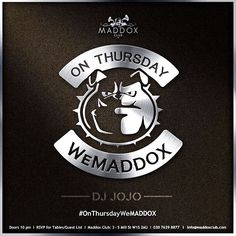 It's our favourite day of the week - because the #MaddoxClub #weekend starts here! Tonight #festive #food will be served, #Christmassy #cocktails will be mixed and the #music will play on till late! #OnThursdayWeMADDOX