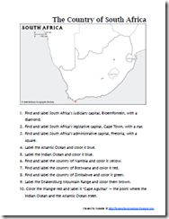 We have friends who visited South Africa a few years ago, so the girls remembered hearing about some of the different places that they had visited and also seeing pictures of their trip ~ making this a fun country to review and study.  Along the wa