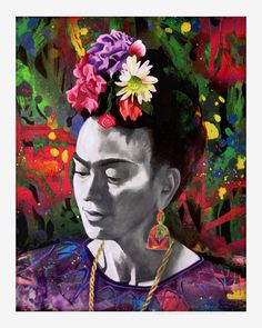 Frida Kahlo Portrait Painting Print by ARTbyMAG on Etsy, $29.99