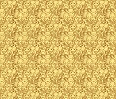 Wild Animals - Yellow and Brown fabric by oksancia on Spoonflower - custom fabric