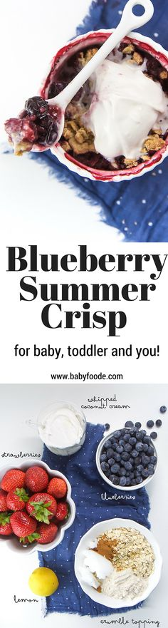 An easy summer dessert for baby, toddler and yourself!!