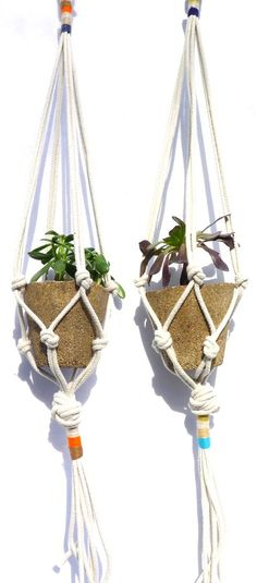 Colorblock Rope Plant Hanger - for the absolute beginners or kids