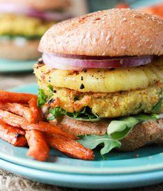 Coconut Curry Quinoa Burgers With Pineapple
